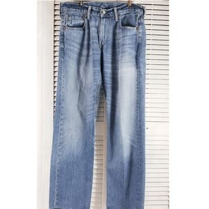Levis 569 Mens Faded Whiskered Jeans Sz 31x32